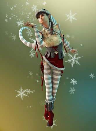 Santas Little Helper Elsie, 3d CG