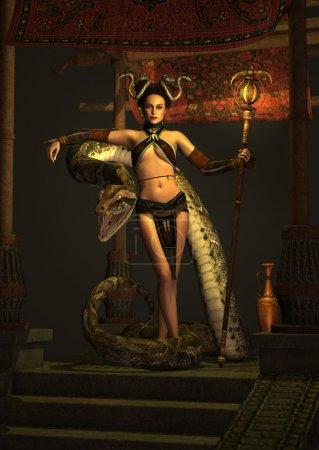 The Snake Priestess 3d CG