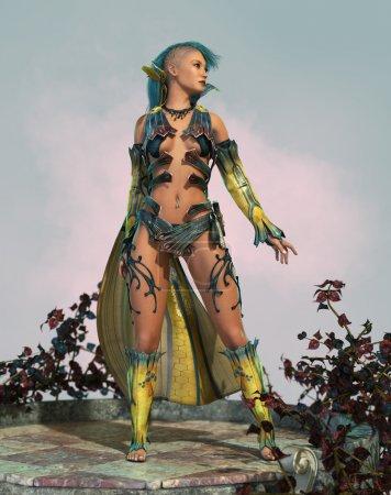 Fairy with Mohawk 3d CG