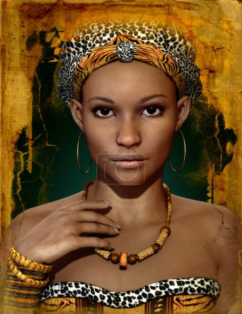 African Lady, 3d CG