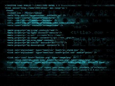 Photo pour Fond technologie de source code, illustration - image libre de droit