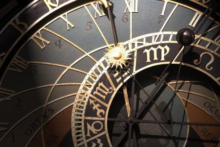 Old astronomical clock in Prague, Czech Republic