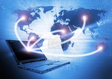 Laptop technology background