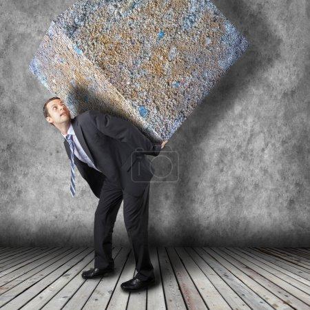 Photo pour Affaires ensemble de transport lourd - concept de carrière difficile dans l'entreprise - image libre de droit