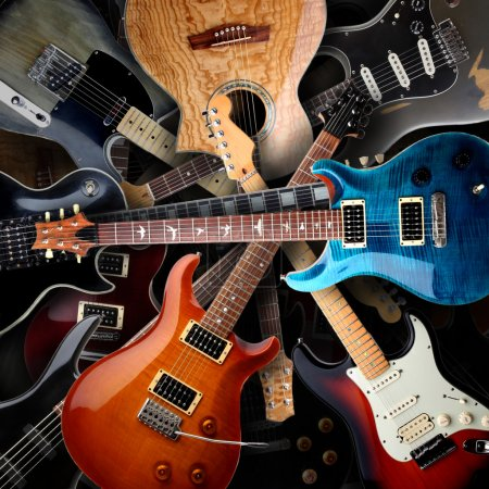 Photo for Several Electric guitars background - Royalty Free Image