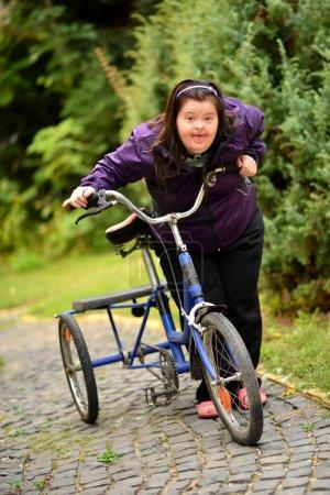 Woman Riding Trike