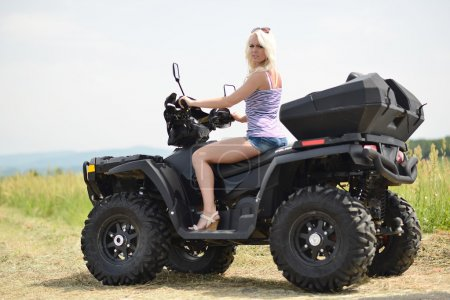 Sexy Girl on the ATV