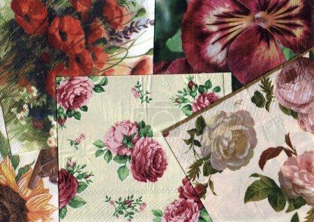 Reihe von dekorativen Blumenmustern