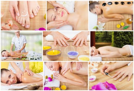 Collage of spa treatments