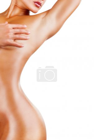 Photo for Slender figure of woman with perfect body, closeup studio shot - Royalty Free Image