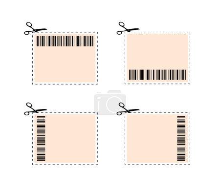 Illustration pour Ilustration de coupons et étiquettes pour la coupe - image libre de droit