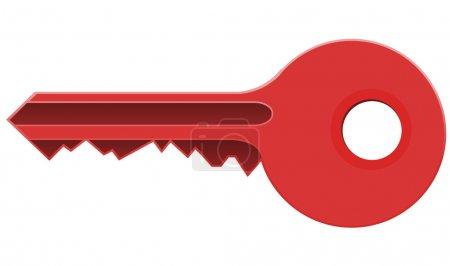 Illustration pour Illustration vectorielle clé rouge - image libre de droit