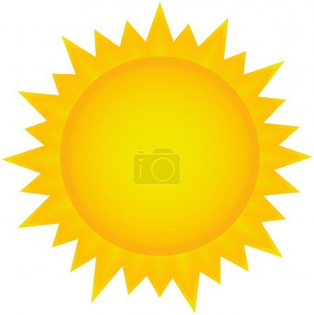 Illustration for Sun clipart, icon Eps 10 illustration - Royalty Free Image