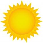 Sun clipart, icon Eps 10 illustration...