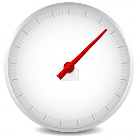 Stopwatch  with red arow on white background...
