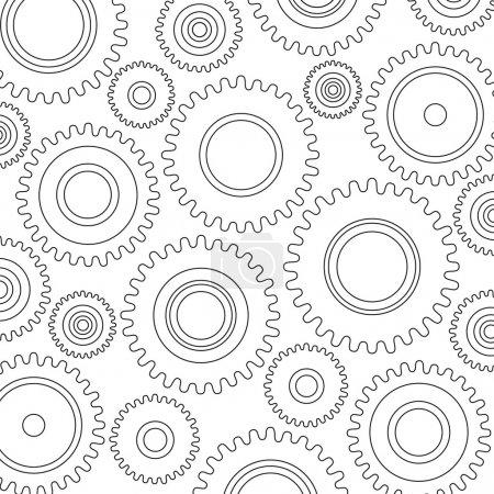 Illustration pour EPS 10 vecteur. Industriel, machines, usine, horlogerie, arrière-plan mécanique. Production, ingénierie, développement, construction-construction thèmes . - image libre de droit