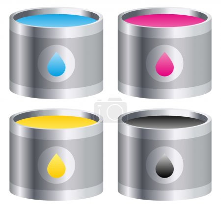 Four colour buckets