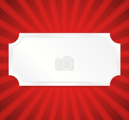 Illustration pour Plaque vierge sur fond rouge éclatant - image libre de droit