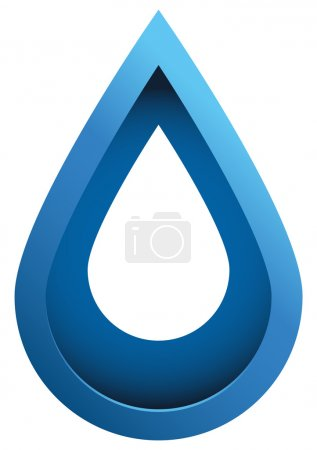 Water Drop 3d Vector Icon