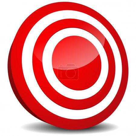 Target Icon. Aim, precision, luck, bulls eye, target practising, targeting (market, marketing), goal, goal setting design element, vector icon.
