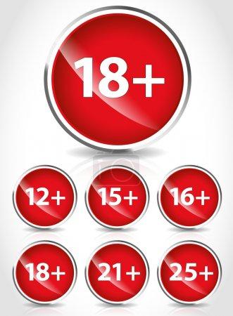 Age restriction signs , symbols
