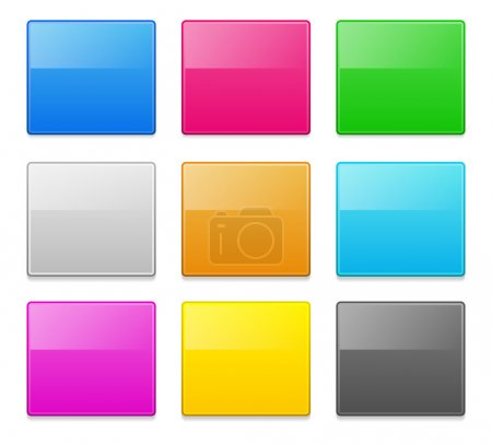 Illustration for Colorful blank square banners, buttons design elements - Royalty Free Image