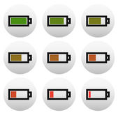 Battery level indicators (battery symbols)