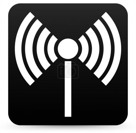 Radio tower, radio transmission, wireless connection, antenna, transmitter icons vector elements.