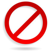 Red strikethrough notice - Sign of prohibition denial and restriction