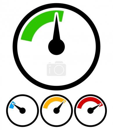 Pressure gauge, dial template