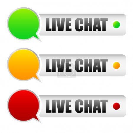 Illustration for Live chat - Royalty Free Image