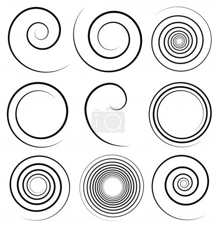 Illustration for Simple spiral profile set - Royalty Free Image