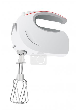 Kitchen hand mixer vector
