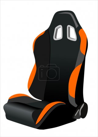 A child s car seat isolated on a white background