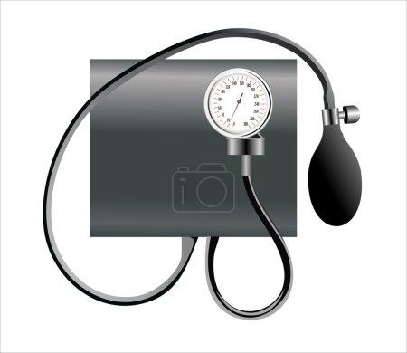 Illustration for Black tonometer isolated on white - Royalty Free Image