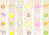 Seamless wallpaper with elephants for a child's room Vector illustration