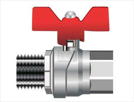 Water valve set isolated on white background.