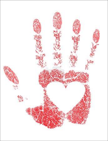 Hand prints heart