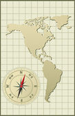 Map of North and Latin Americas Vector illustration