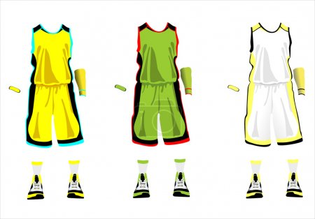 Sports series. Realistic team basketball uniform