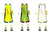 Sports series Realistic team basketball uniform