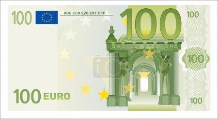 Illustration pour 100 euros - image libre de droit