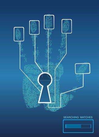 Fingerprint Lock. Electronic biometric fingerprint scanning