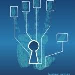 Fingerprint Lock. Electronic biometric fingerprint...