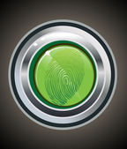 Finger print on button vector illustration
