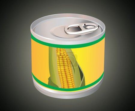 Illustration for Corn can - Royalty Free Image