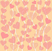 Abstract vector background - hearts Heart-shaped lace or mesh Seamless texture for patterns cards textile wallpapers