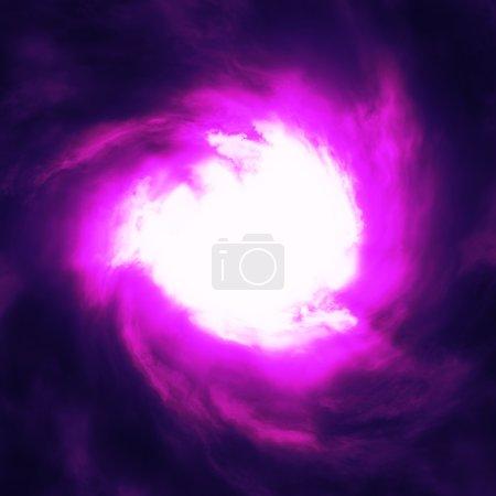 Photo pour Nuages violets brillants abstraits avec trou blanc . - image libre de droit