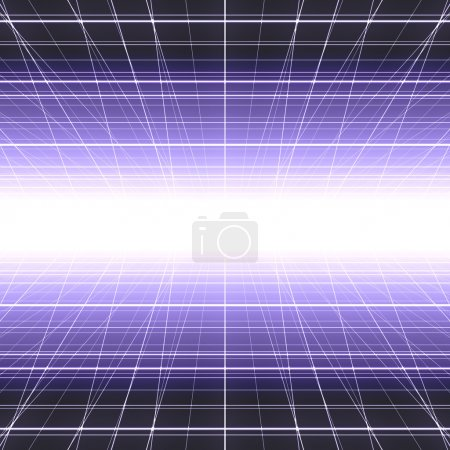 Abstract colorful digital glowing cyber grid backg...