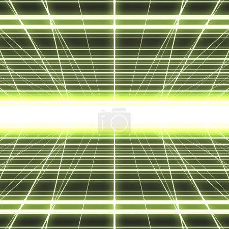 Glowing cyber grid